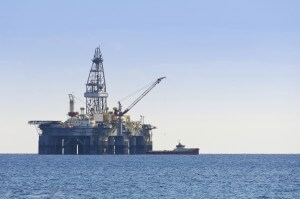 Israel gas and oil rig in Cyprus. Offshore exploration platform